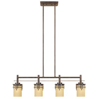 Mission Ridge 4 Light 36 inch Warm Mahogany Island Pendant Ceiling Light