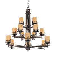 Designers Fountain Mission Ridge 15 Light Chandelier in Warm Mahogany 821815-WM