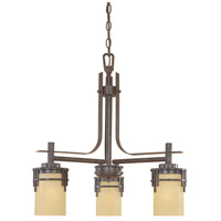 Designers Fountain Mission Ridge 3 Light Chandelier in Warm Mahogany 82183-WM