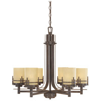 Designers Fountain Mission Ridge 6 Light Chandelier in Warm Mahogany 82186-WM