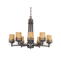 Designers Fountain Mission Ridge 8 Light Chandelier in Warm Mahogany 82188-WM