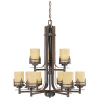 Designers Fountain Mission Ridge 9 Light Chandelier in Warm Mahogany 82189-WM