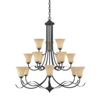 Designers Fountain Ikebana 15 Light Chandelier in Burnished Bronze 825815-BNB