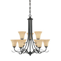 Designers Fountain Ikebana 9 Light Chandelier in Burnished Bronze 82589-BNB