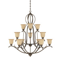 Designers Fountain Radford 12 Light Chandelier in Forged Sienna 826812-FSN