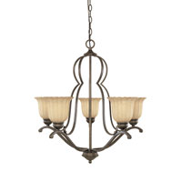 Designers Fountain Radford 5 Light Chandelier in Forged Sienna 82685-FSN photo thumbnail