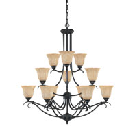 Designers Fountain Vicente 12 Light Chandelier in Burnished Bronze 827812-BNB