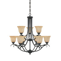 Designers Fountain Vicente 9 Light Chandelier in Burnished Bronze 82789-BNB