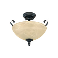 Designers Fountain Del Amo 2 Light Semi-Flush in Burnished Bronze 82811-BNB