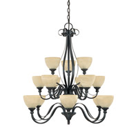 Designers Fountain Del Amo 15 Light Chandelier in Burnished Bronze 828815-BNB