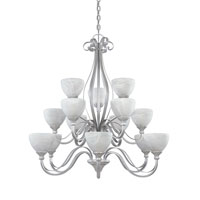 Designers Fountain Del Amo 15 Light Chandelier in Matte Pewter 828815-MTP