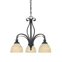 Designers Fountain Del Amo 3 Light Chandelier in Burnished Bronze 82883-BNB