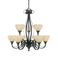 Designers Fountain Del Amo 9 Light Chandelier in Burnished Bronze 82889-BNB
