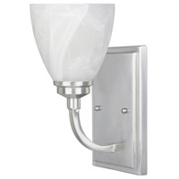 Tackwood 1 Light 5 inch Satin Platinum Wall Sconce Wall Light in Alabaster