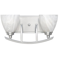 Designers Fountain 82902-SP Tackwood 2 Light 16 inch Satin Platinum Bath Bar Wall Light in Alabaster photo thumbnail