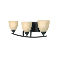 Designers Fountain 82903-BNB Tackwood 3 Light 24 inch Burnished Bronze Bath / Vanity Light Wall Light in Tea Stained Alabaster