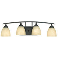 Designers Fountain 82904-BNB Tackwood 4 Light 29 inch Burnished Bronze Bath Bar Wall Light in Tea Stained Alabaster