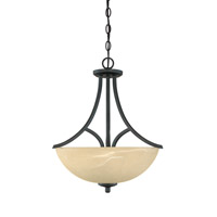 Designers Fountain Tackwood 3 Light Pendant in Burnished Bronze 82931-BNB