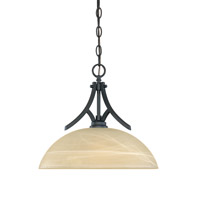 Tackwood 1 Light 120 Burnished Bronze Pendant Ceiling Light in Tea Stained Alabaster