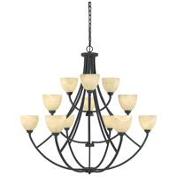 Designers Fountain Tackwood 12 Light Chandelier in Burnished Bronze 829812-BNB
