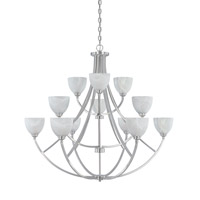 Designers Fountain Tackwood 12 Light Chandelier in Satin Platinum 829812-SP
