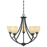 Designers Fountain 82985-BNB Tackwood 5 Light 27 inch Burnished Bronze Chandelier Ceiling Light in Tea Stained Alabaster