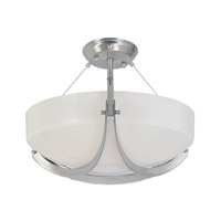 Designers Fountain Avanti 2 Light Semi-Flush in Satin Platinum 83011-SP