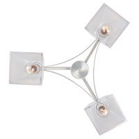 Avanti 3 Light 21 inch Satin Platinum Chandelier Ceiling Light