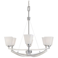 Designers Fountain Avanti 6 Light Chandelier in Satin Platinum 83086-SP