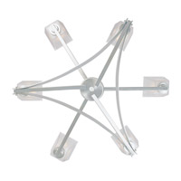 Avanti 6 Light 31 inch Satin Platinum Chandelier Ceiling Light
