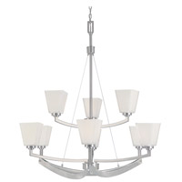 Avanti 9 Light 34 inch Satin Platinum Chandelier Ceiling Light