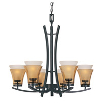 Designers Fountain Majorca 6 Light Chandelier in Oil Rubbed Bronze 83186-ORB