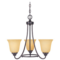 Designers Fountain 83383-ORB Madison 3 Light 20 inch Oil Rubbed Bronze Chandelier Ceiling Light photo thumbnail
