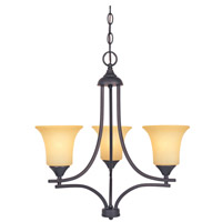 Seville 3 Light 22 inch Oil Rubbed Bronze Chandelier Ceiling Light