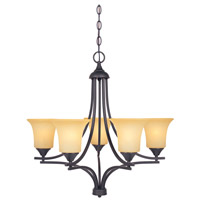Designers Fountain Seville 5 Light Chandelier in Oil Rubbed Bronze 83485-ORB