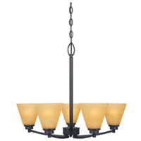 Designers Fountain Arcadia 5 Light Chandelier in Oil Rubbed Bronze 83585-ORB