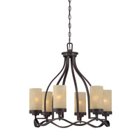 Designers Fountain Castello 6 Light Chandelier in Tuscana 83686-TU
