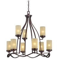 Designers Fountain Castello 9 Light Chandelier in Tuscana 83689-TU