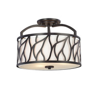 Designers Fountain Modesto 3 Light Semi-Flush in Artisan 83711-ART