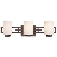 Del Ray 3 Light 24 inch Flemish Bronze Bath Bar Wall Light