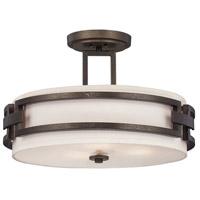 Designers Fountain 83811-FBZ Del Ray 3 Light 120 Flemish Bronze Semi-Flush Ceiling Light