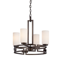 Designers Fountain Del Ray 4 Light Chandelier in Flemish Bronze 83884-FBZ