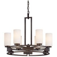 Designers Fountain Del Ray 6 Light Chandelier in Flemish Bronze 83886-FBZ