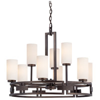 Designers Fountain Del Ray 9 Light Chandelier in Flemish Bronze 83889-FBZ
