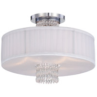 Designers Fountain 83911-CH Candence 3 Light 120 Chrome Semi-Flush Ceiling Light