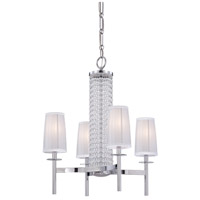 Designers Fountain 83984-CH Candence 4 Light 24 inch Chrome Chandelier Ceiling Light