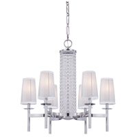 Designers Fountain 83986-CH Candence 6 Light 28 inch Chrome Chandelier Ceiling Light