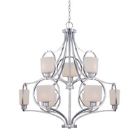 Mirage 9 Light 35 inch Chrome Chandelier Ceiling Light