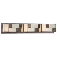 Bradley 3 Light 29 inch Charcoal Bath Bar Wall Light