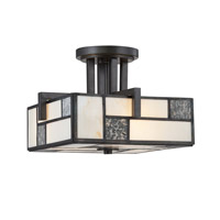 Bradley 3 Light 120 Charcoal Semi-Flush Ceiling Light